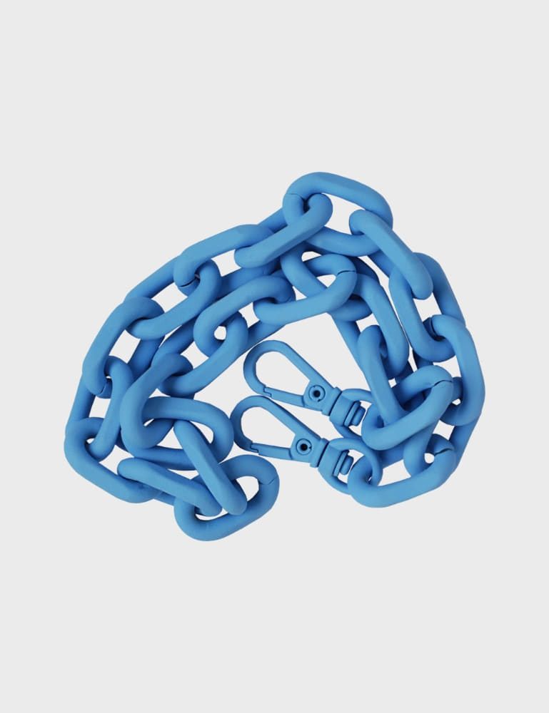 MAISON246,246 METAL CHAIN STRAP - NEON BLUE,No.246