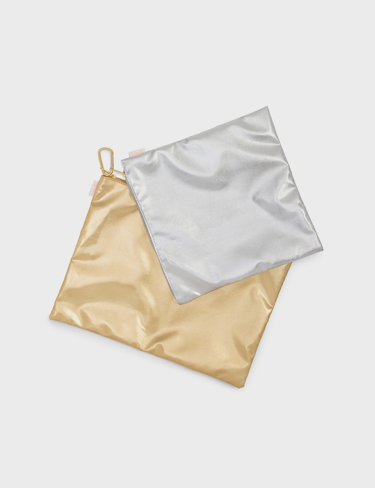 MAISON246,[밴도] 파우치 듀오 METALLIC GOLD / SILVER,ban.do