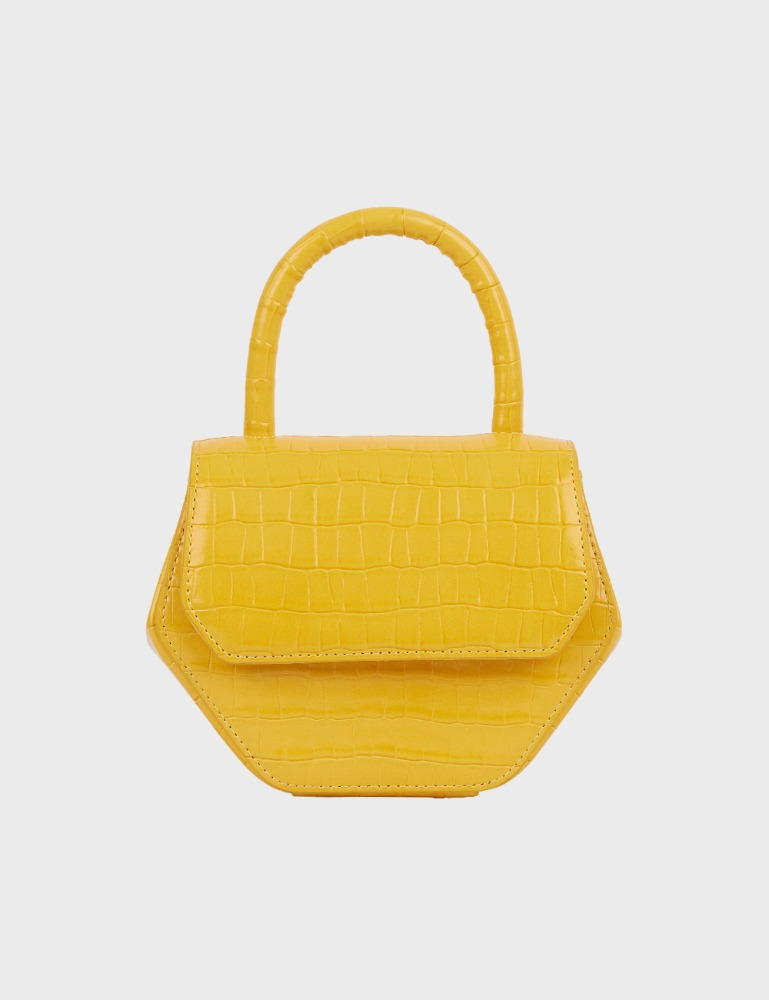 MAISON246,246 MAGOT CROCODILE SMALL BAG - YELLOW,No.246