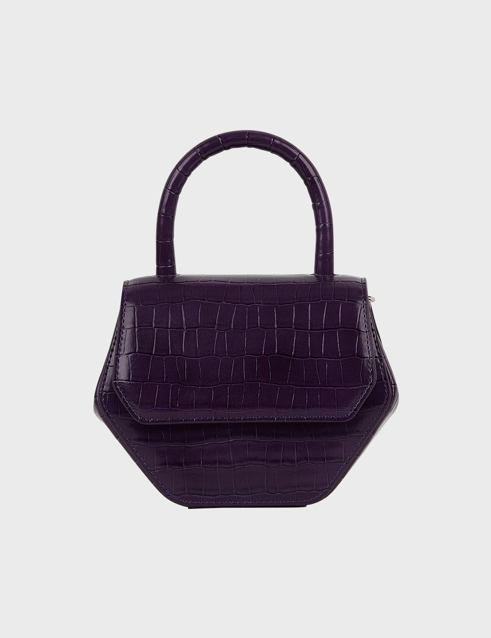 MAISON246,246 MAGOT CROCODILE SMALL BAG - PURPLE,No.246