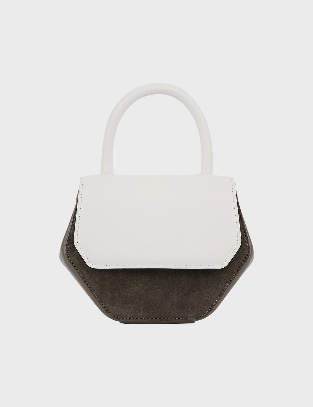 MAISON246,246 MAGOT COMBI SMALL BAG - WHITE GREY,No.246