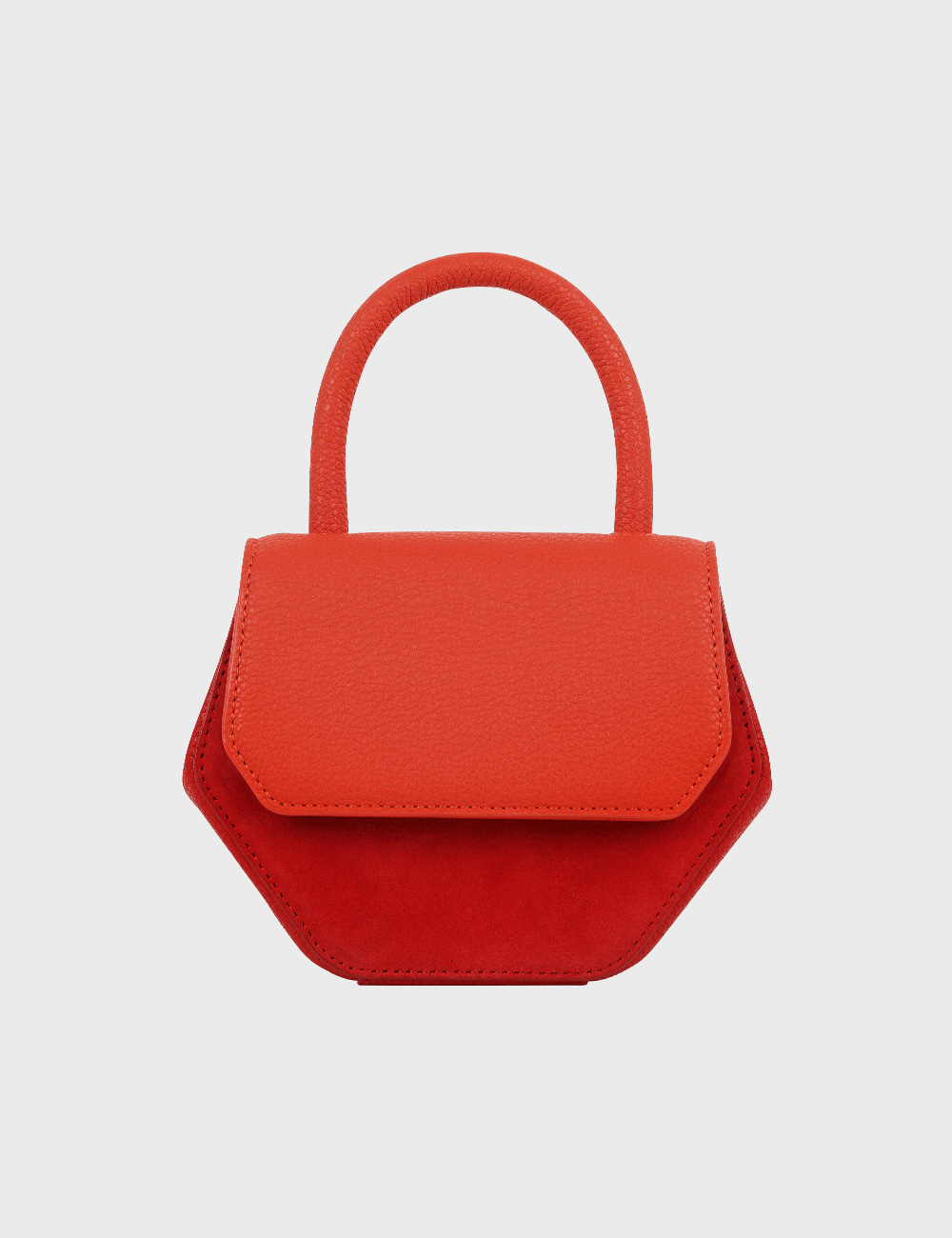 MAISON246,246 MAGOT COMBI SMALL BAG - ORANGE RED,No.246