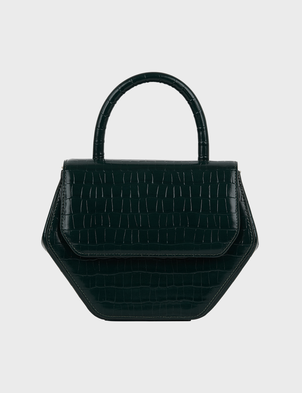 MAISON246,246 MAGOT CROCODILE MEDIUM BAG - DEEP GREEN,No.246