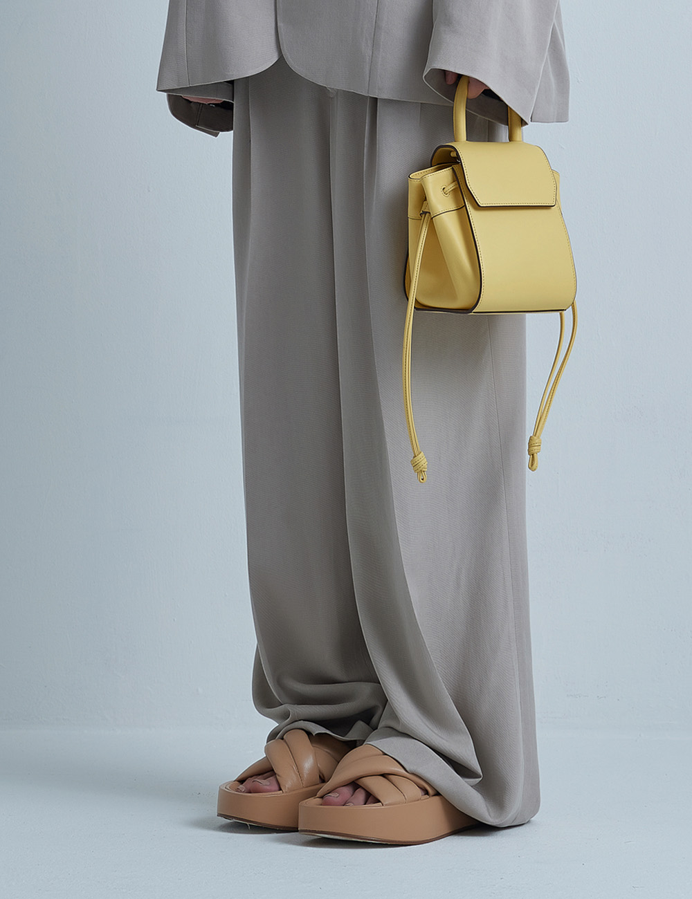 MAISON246,[퍼/메탈체인증정]246 PANIER BAG - YELLOW,No.246