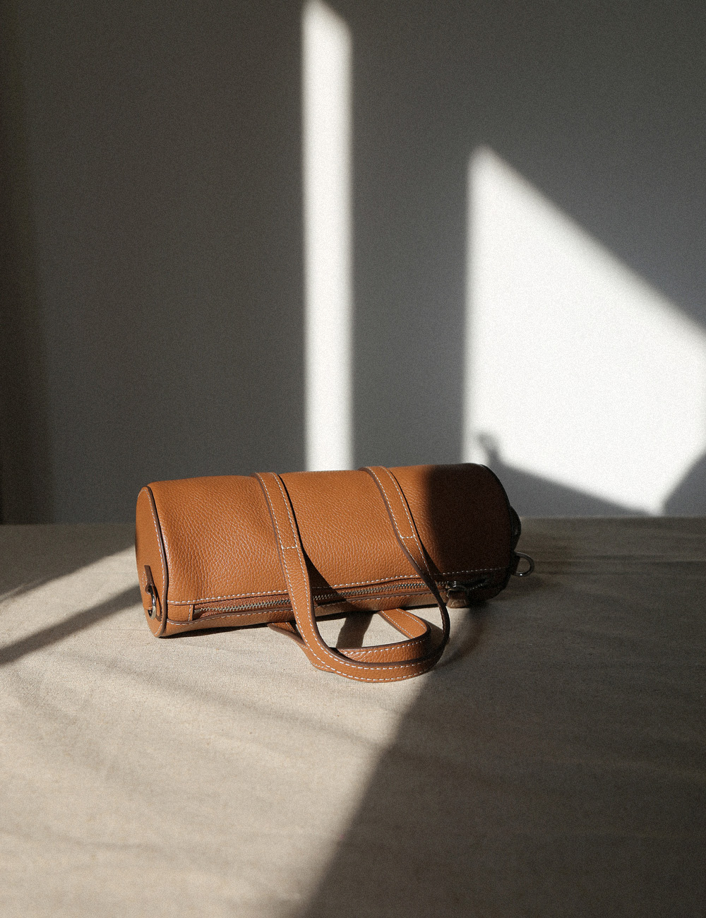 MAISON246,[NEW] 246 BARREL MINI TOTE BAG - TAN,No.246