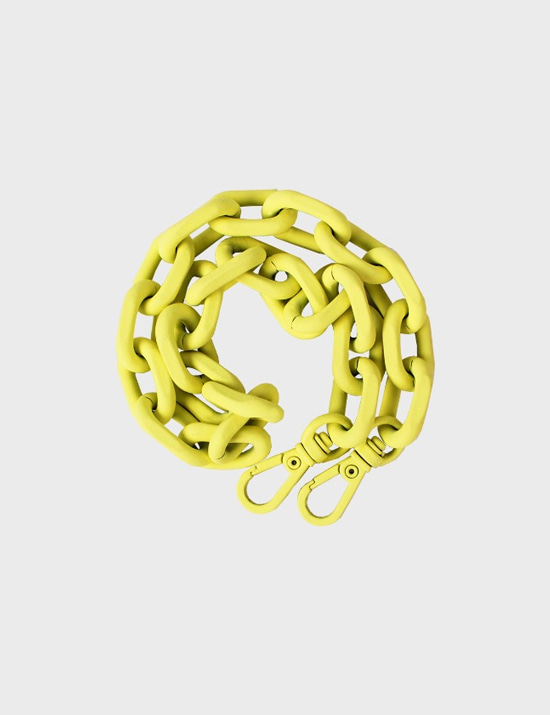 MAISON246,246 METAL CHAIN STRAP - NEON YELLOW,No.246