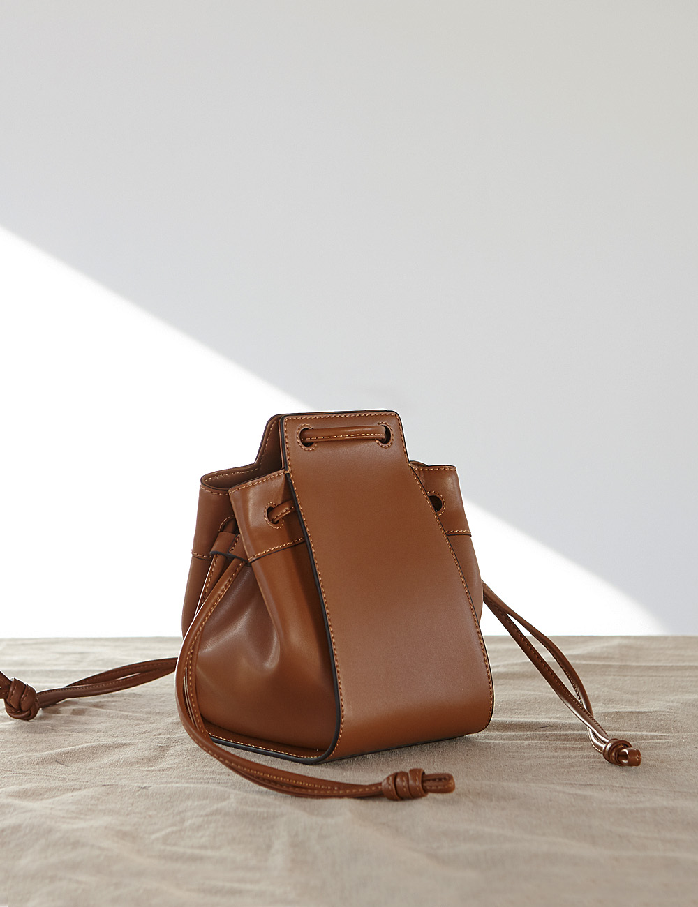 MAISON246,246 AME BAG - TAN,No.246