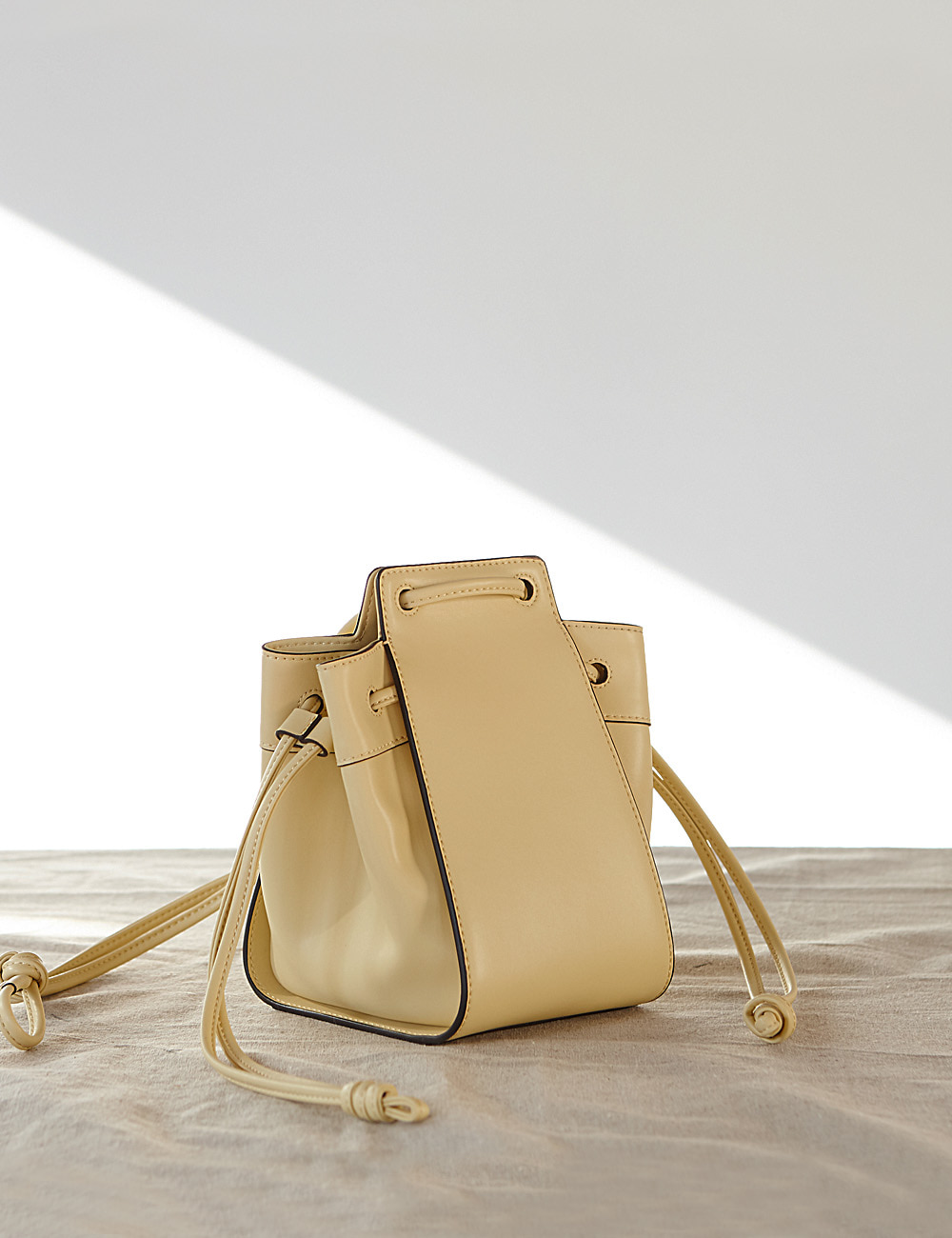 MAISON246,246 AME BAG - LIGHT YELLOW,No.246